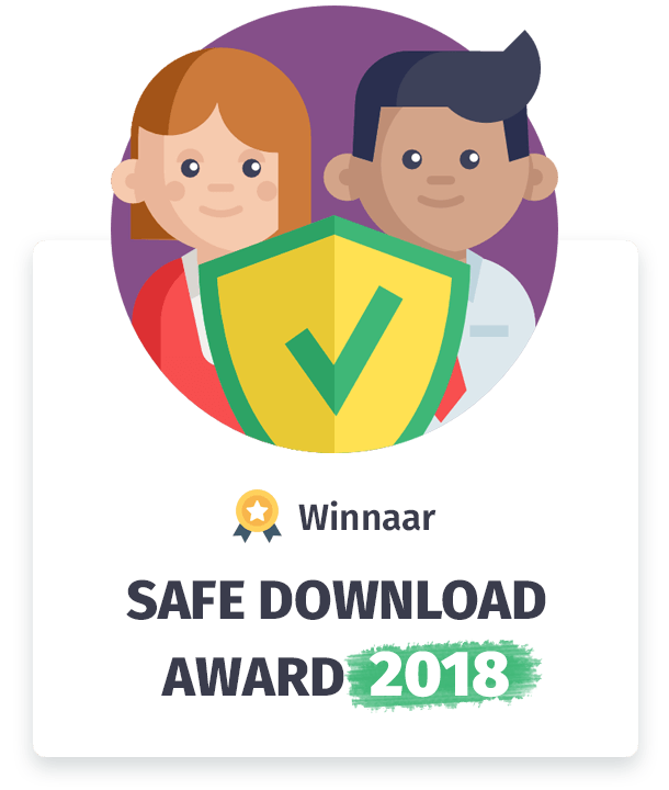 Winnaar Download Award 2018 categorie veilig downloaden!